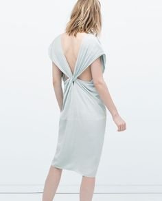 Image 6 of DRESS WITH KNOT AND CROSSED BACK from Zara