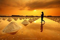 """""""Salt fields, Phetchaburi, Thailand"""" by isarescheewin, via 500px."""