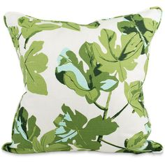 Fig Leaf Throw Pillow (€155) ❤ liked on Polyvore featuring home, home decor and throw pillows