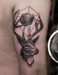 Deer Tattoo #polygon #animal #cerf #geometric #cool