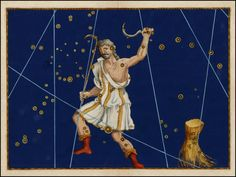 Illustration of the constellation Bootes from Johann Bayer's Celestial Atlas, Augsburg, 1603
