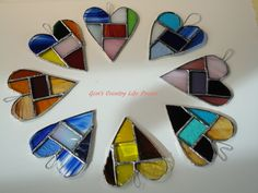 heart stained glass patterns | When I got home I rummaged through my ribbon stash and hung it up with ...