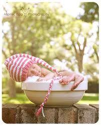 love the nightcap! hats, babi photographi, babies photography, newborn photos, photographi idea, post pregnancy, blog, photo idea, bowls