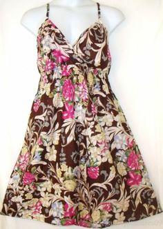 3X 2X FLORAL PRINT TANK DRESS~sun~SMOCKED~A-LINE~GARDEN~empire~bra & TORRID GIFT $19.99