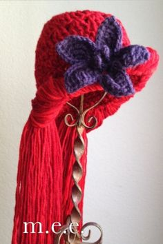 Ariel the Little Mermaid inspired beanie / wig ... Could be useful for future Halloween costumes?