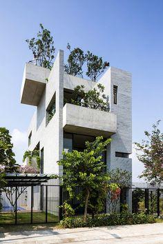 Maison Binh à Ho Chi Minh city (Saigon) - Viet-nam. Maison unifamiliale par Vo Trong Nghia Architects