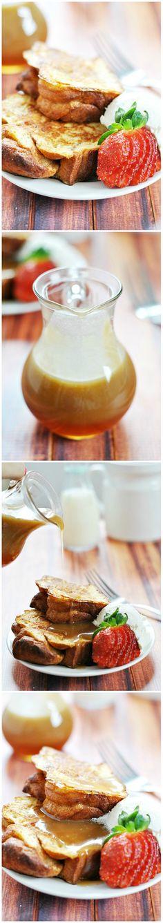 Chunky French Toast & Caramel Syrup | www.somethingswankycom