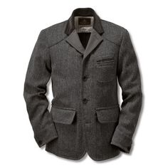 Nigel Cabourn's Raw Tweed and Canvas Jacket.  Grand shape.