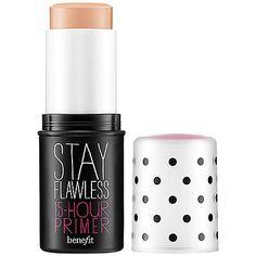 Stay Flawless, da Benefit: é um primer fantástico que funciona como um bloqueador da sua base, deixando a pele  impecável por até 15 horas. Quanto: US$ 32,00.