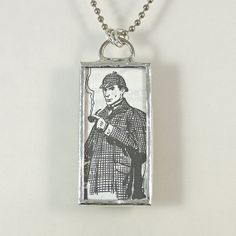 Sherlock Holmes Reversible Pendant Necklace by XOHandworks $25