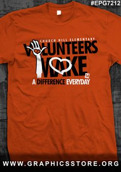 EPG7212 Volunteers make a difference PTA shirt design