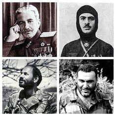 Armenian heroes Andranik Ozanian, Garegin Njdeh, Monte Melkonian, Vazgen Sargsyan