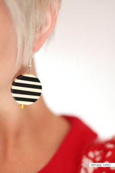 Chunky Stripe Earrings