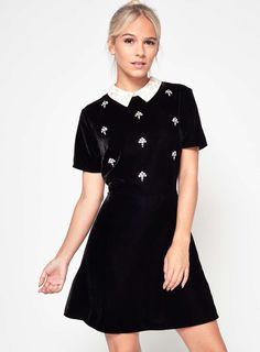 PETITE Velvet Skater Dress