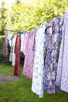 second hand clothes drying.   gammelbrydegaard.dk