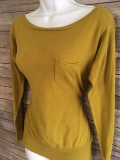 JCREW Women's Sweater Size Small Long Sleeve Crewneck Yellow Winter #JCREW #Crewneck #ebay