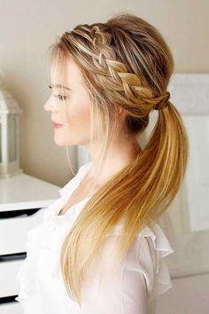 13. Frisuren mit Zöpfen für langes Haar