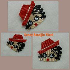 Bead Loom Patterns, Beaded Jewelry Patterns, Peyote Patterns, Beading Patterns, Beading Projects, Beading Tutorials, Seed Bead Jewelry, Seed Bead Earrings, Betty Boop