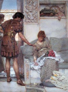 """A Silent Greeting""  Sir Lawrence Alma-Tadema,"