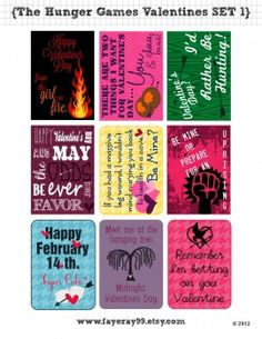 hunger games valentines cards
