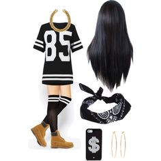 A fashion look from December 2014 featuring ASOS socks, Timberland ankle booties and H&M necklaces. Browse and shop related looks.