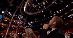 Ryan Gosling was bewildered by candy parachutes. | The 22 Best Moments From The 2017 Oscar Awards