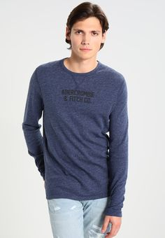 Abercrombie & Fitch REVERSIBLE - T-shirt à manches longues - navy - ZALANDO.FR Abercrombie Fitch, Pullover, Sweaters, Shirts, Fashion, Deep Blue, Long Dress Patterns, Moda, Fashion Styles