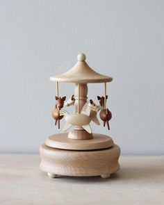 Carousel Music Box Gives 5 meals – Odin Parker Wooden Music Box, Wooden Boxes, Handmade Wooden, Handmade Toys, Music Box Ballerina, Kids Wood, Music For Kids, Designer Toys, Wood Toys