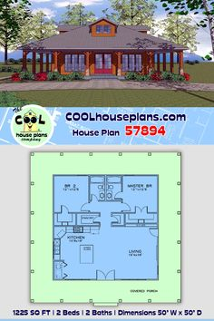 Best House Plans, Modern House Plans, House Floor Plans, Southern Cottage, Southern Style, Small Floor Plans, Small House Plans, Building Plans, Building A House