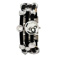 Disney Mickey Mouse Icon Bracelet Watch for Women | Disney StoreMickey Mouse Icon Bracelet Watch for Women - Set-off any outfit with a dazzling display of faceted crystal gems and a mini-watch, all arranged on a trio of matched leather bands like a shimmering bracelet. This stunner will spark smiles all evening long.