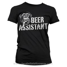 Beer Assistant Black - Gas Monkey Garage Lady T-Shirt  Beer Assistant Black Girly - Gas Monkey Garage     Great chance for tough chicks and hotrod fans. A real piece of gem from the world famous muscle car shop Gas Monkey Garage. This black T-Shirt featu..  Price: €28.99  http://www.clarabellatattoowear.com/lady/t-shirts/gas-monkey-garage/beer-assistant-black-gas-monkey-garage-lady-t-shirt/