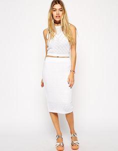 ASOS Crochet Pencil Skirt