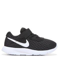 Nike Kids  Tanjun Running Shoe Toddler Shoes (Black White) Black Nike Shoes db967281c