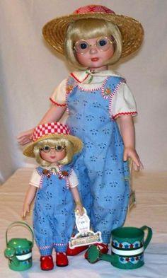 Tonner-Big-18-Little-10-ANN-ESTELLE-May-Flowers-Dolls-Excellent. Both dolls together BIN $275.00.
