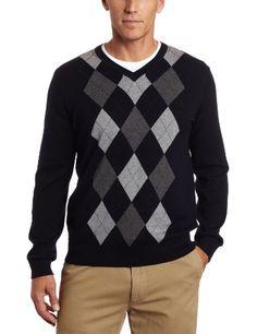 Nautica Men's 12GG Argyle Sweater