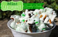 Mint Grasshopper Candy Bark