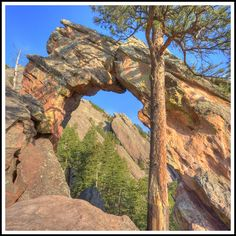 royal arch in boulder colorado...we hiked there in the moonlight :)