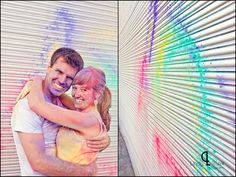 Powder paint grafitti {www.lindytruter.com} Powder Paint, Couple Shoot, Photoshoot Ideas, Creative Photography, Couples, Fun, Painting, Wedding, Inspiration