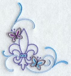 Fleur-de-lis and Butterfly that I want to turn into a tattoo!