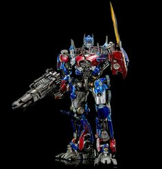 (in sealed) Threea Transformers Optimus Prime ( online Version ) with Big Gun Optimus Prime Toy, Sideshow Freaks, Systems Art, Toy People, Transformers Optimus Prime, Robot Action Figures, Big Guns, Comic Book Heroes, New Image