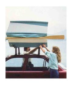 cartop carrier folding boat - carrier on car