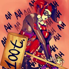 Harley Quinn (2) Art Print