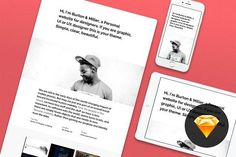 Great Personal website #1 for Sketch 3  CreativeWork247 - Fonts, Graphics, T...