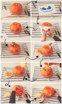 roségolden - Meine 5 Tipps zum Kürbisschnitzen #kürbis #schnitzen #gesicht #pumpkin #carving #face #jack #skellington #halloween #autumn