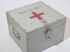Vintage First Aid Kit Box by DayDaysFiveandDime on Etsy, $75.00