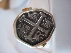 Atocha Coin Octagon Sterling Silver Ring by NauticalFeeling, $179.00