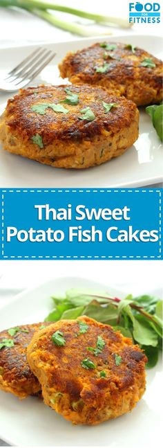 Thai Sweet Potato Fishcakes | This recipe is very easy to make and packs a delicious peanuty punch | FoodForFitness.co.uk