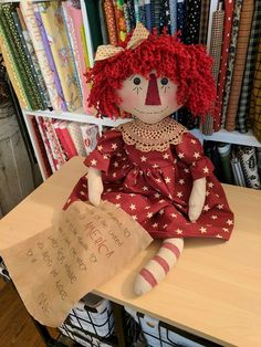 Raggedy Ann And Andy, Handmade Dolls, Doll Patterns, Sewing, Dressmaking, Couture, Stitching, Sew, Costura