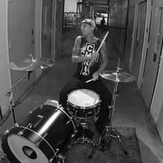 Travis Barker  You never need more than bass snare hihat!!