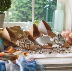 Our Maya Flats by Latigo Footwear are superbly chic! Available in a variety of colors and patterns, these flats are the perfect transition shoes from summer to fall with the greatest of ease. A soft leather lining keeps feet both cool and comfortable.